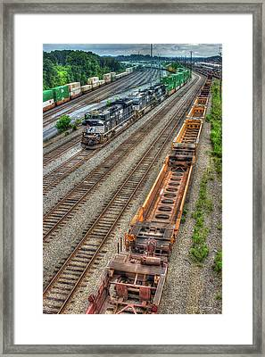 Framed Print featuring the photograph Inman Intermodal Yard Atlanta Norfolk Southern Railway Locomotive 2665 Art by Reid Callaway
