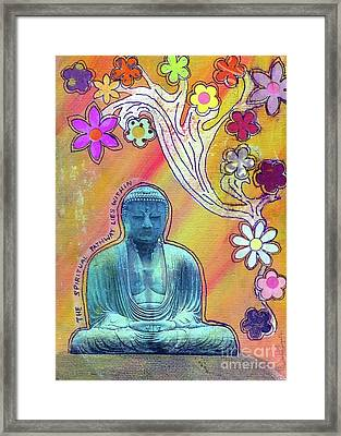 Framed Print featuring the mixed media Inner Bliss by Desiree Paquette