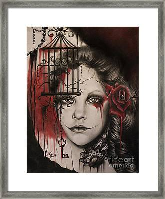 Inner Demons  Framed Print by Sheena Pike