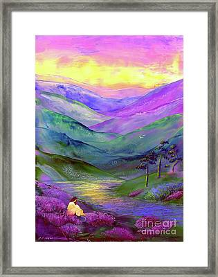 Inner Flame, Meditation Framed Print by Jane Small