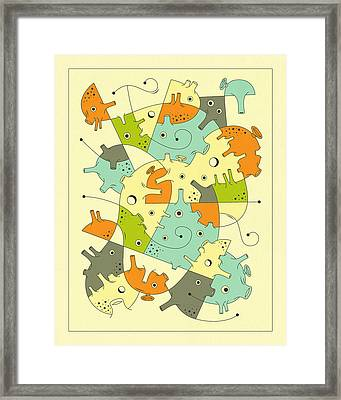 Inner Formations 2 Framed Print by Jazzberry Blue