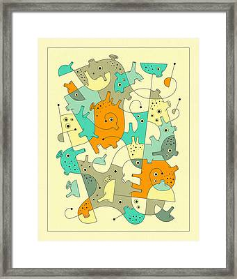 Inner Formations 4 Framed Print by Jazzberry Blue