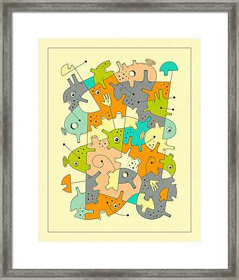 Inner Formations 6 Framed Print by Jazzberry Blue