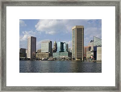 Inner Harbor - Baltimore  Maryland Framed Print by Brendan Reals