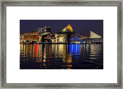 Inner Harbor After Dark Framed Print by Brian Wallace