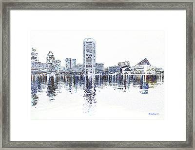 Inner Harbor - Baltimore Framed Print