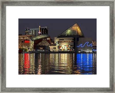 Inner Harbor Reflections Framed Print by Brian Wallace
