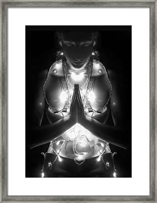 Inner Illumination - Self Portrait Framed Print by Jaeda DeWalt