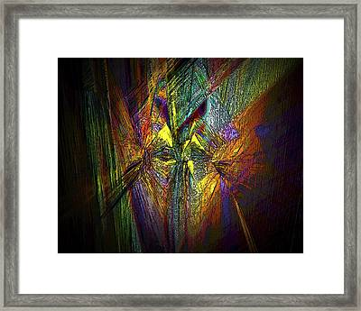 Framed Print featuring the digital art Inner Labyrinth by Irma BACKELANT GALLERIES