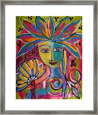 Inner Muse Framed Print by Corina  Stupu Thomas