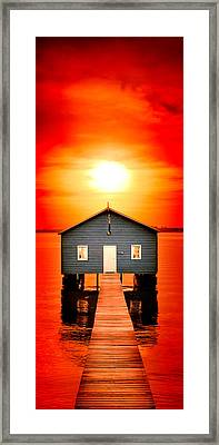 Blood Sunset Panorama Framed Print by Az Jackson