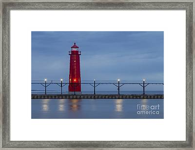 Inner Range Lighthouse In Grand Haven Framed Print by Twenty Two North Photography