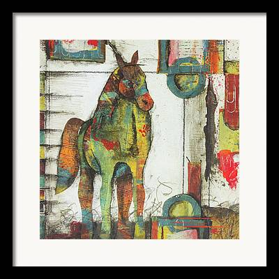 Horse Images Mixed Media Framed Prints