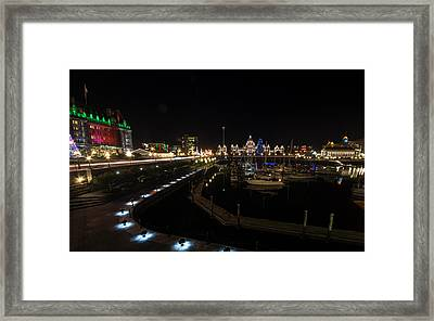 Inner Harbour Of Victoria Bc Framed Print