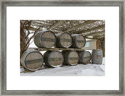 Niagara On The Lakes Inniskillin Winery Framed Print