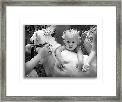 Innocence And Love Framed Print by Brian Wallace