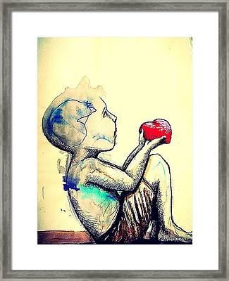 Innocence In Admiration Framed Print by Paulo Zerbato