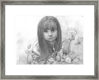 Innocence Framed Print by Katie Alfonsi