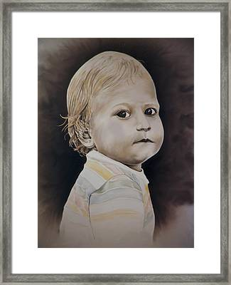Innocence Framed Print by Lonnie Tapia