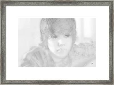 Innocent Eyes Of Justin. Framed Print by Erwin Verhoeven