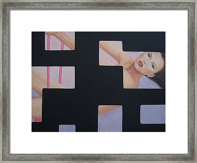 Innocent Flirtation Framed Print