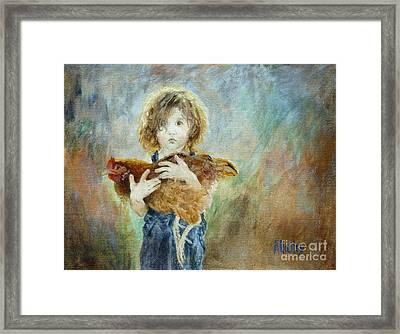 Innocent Love Framed Print by Ann Radley