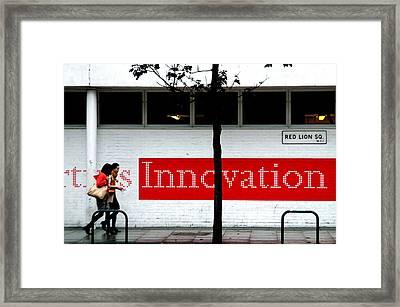 Innovative Red Framed Print by Jez C Self
