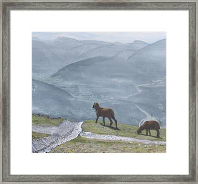 Framed Print featuring the painting Innsbruck Austria by Betty-Anne McDonald