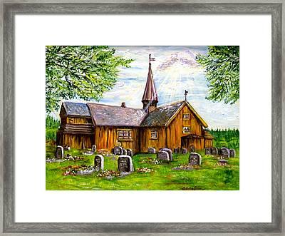 Innset Kirke -- Norway Framed Print by Carol Allen Anfinsen