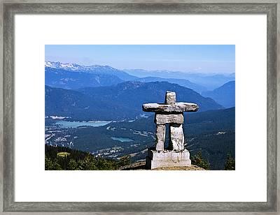 Innukshuk On Whistler Mountain Framed Print