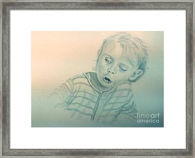 Inquisitive Child Framed Print