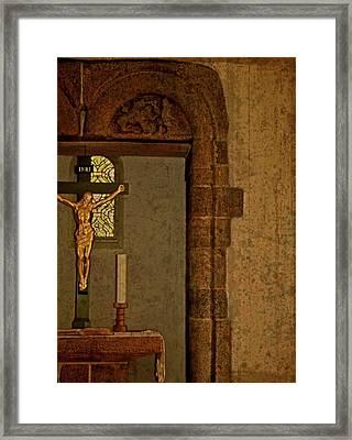 Inri Framed Print by Odd Jeppesen