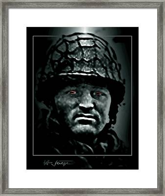The  Insanity  Mind-less  State  Of Isis Framed Print by Hartmut Jager