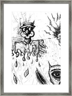 Insanity Framed Print by Jera Sky