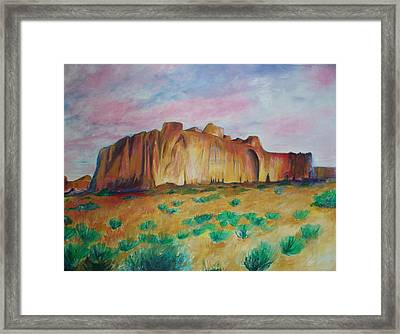 Framed Print featuring the painting Inscription Rock  by Eric  Schiabor