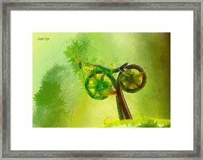 Insect Byke - Da Framed Print by Leonardo Digenio