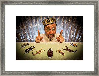 Insect Whisperer Framed Print by Tom R. Grabuschnigg (tomtitan)
