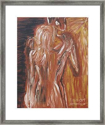 Inseparable Lovers Framed Print by Jasmine Tolmajian