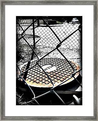 Insert Judgemental Comment On Society Here Framed Print by Kara Kalleberg