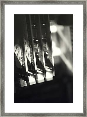 Framed Print featuring the photograph Inside A Computer Abstract Series - 3 by Trish Mistric