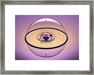 Inside A Saturn Bubble Framed Print by Susan Candelario