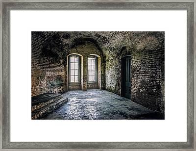 Inside Abandoned Fort Point - San Francisco Framed Print by Jennifer Rondinelli Reilly - Fine Art Photography