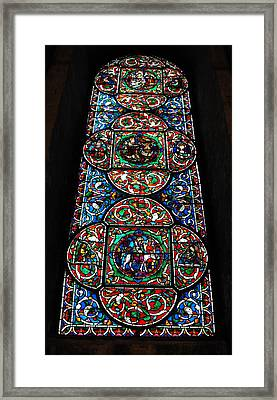 Inside Canterbury Cathedral Framed Print by Gerald Hiam