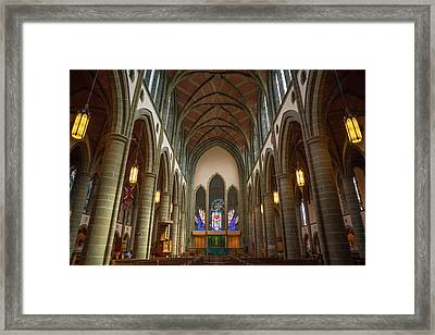 Inside Christchurch Cathedral Framed Print