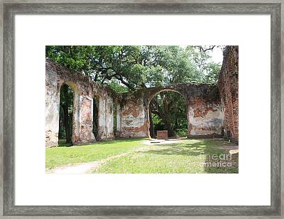 Inside Church Ruins Framed Print