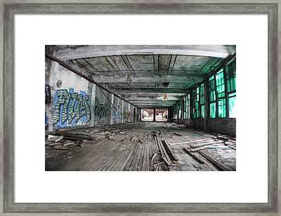 Inside Detroit Packard Plant  Framed Print by John McGraw