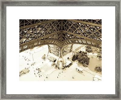 Inside Eiffel Framed Print by Patrick Rabbat