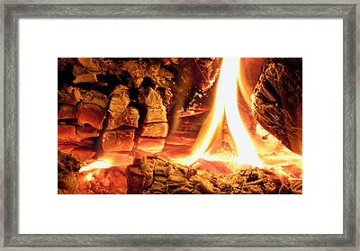 Inside Fire Framed Print