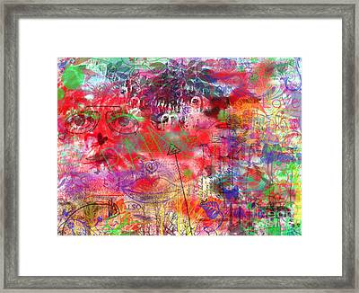 Inside Her Head Framed Print by Claire Bull
