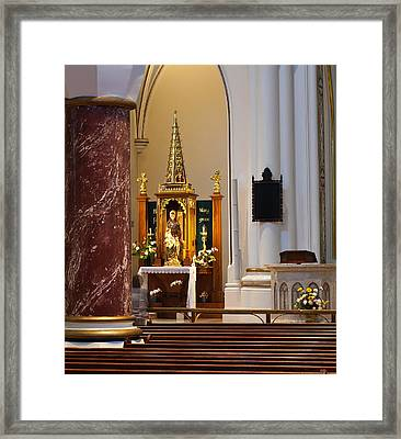 Inside Holy Rosary Cathedral Framed Print by Paul W Sharpe Aka Wizard of Wonders